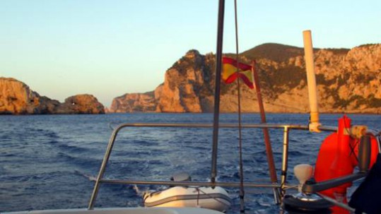Peligros navegando en Ibiza